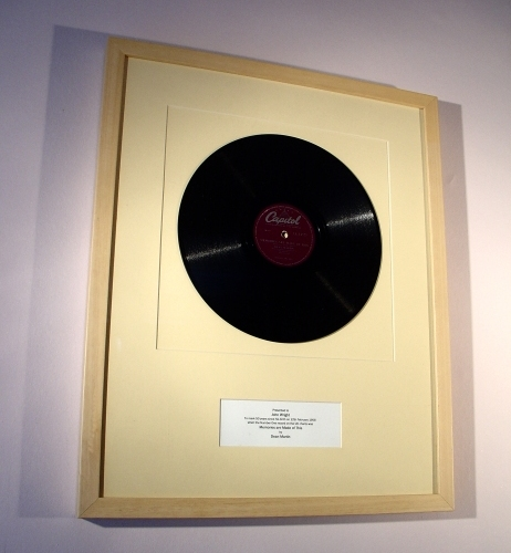 """Framed """"first Dance"""" Vinyl Records And Sheet Music. A"""