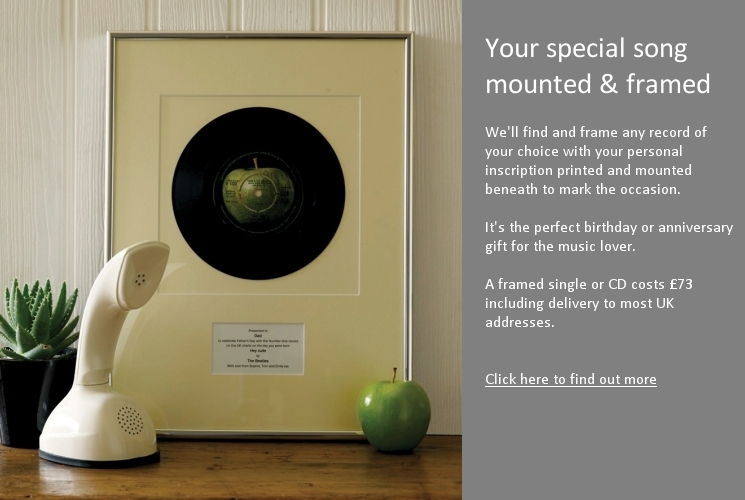 Your special song mounted & framed
