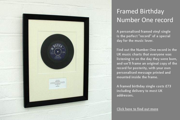 Framed Birthday Number One record