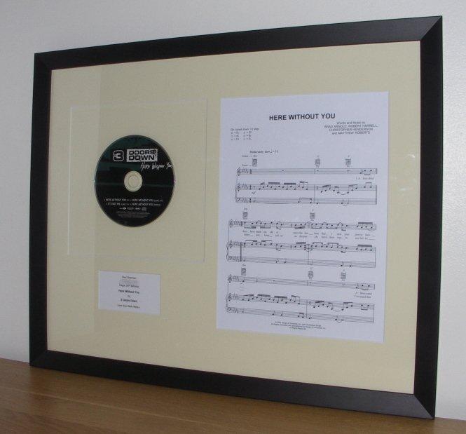3 doors down sheet music for Homeowner selection sheet