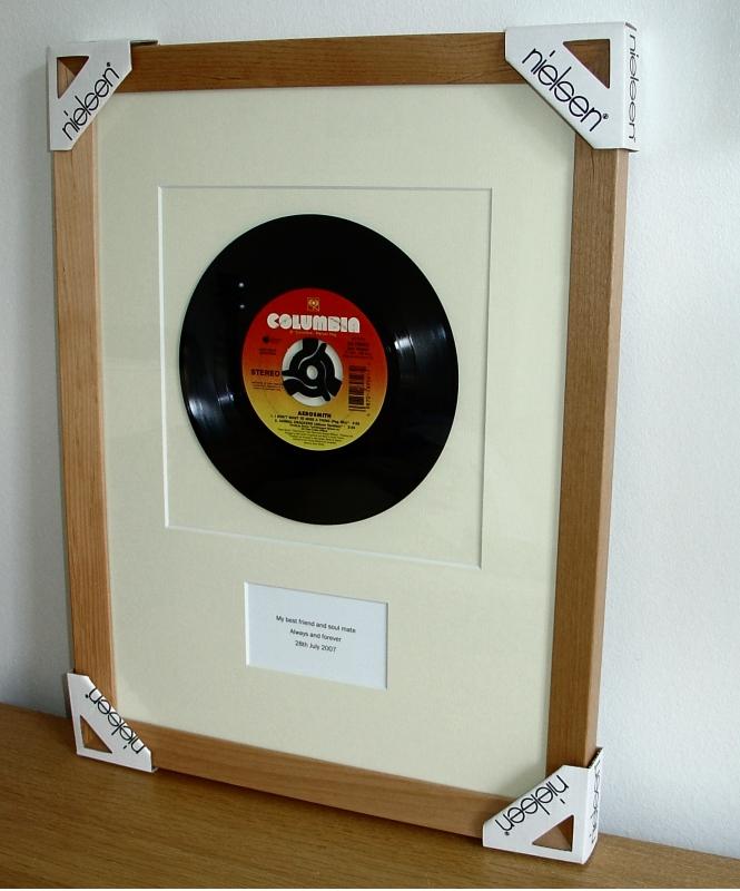 Aerosmith I Don T Want To Miss A Thing Framed Vinyl