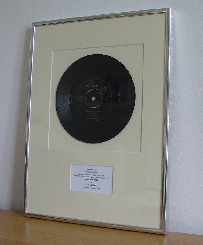 Beatles Paperback Writer June 1966 Framed Vinyl