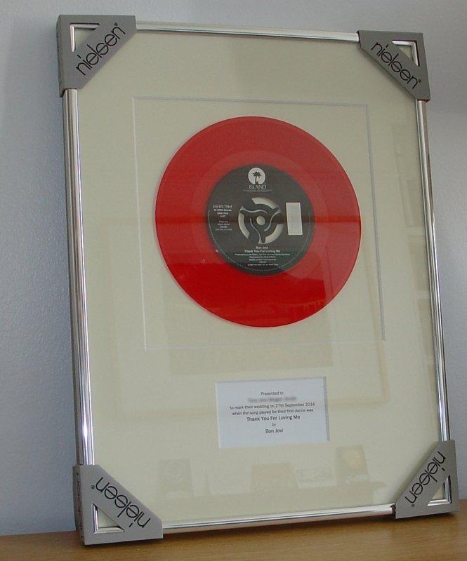 Bon Jovi Thank You For Loving Me Framed Vinyl