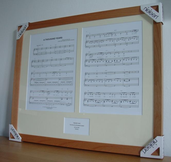 Framed Sheet Music