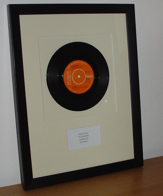 Personalised Framed Vinyl Record