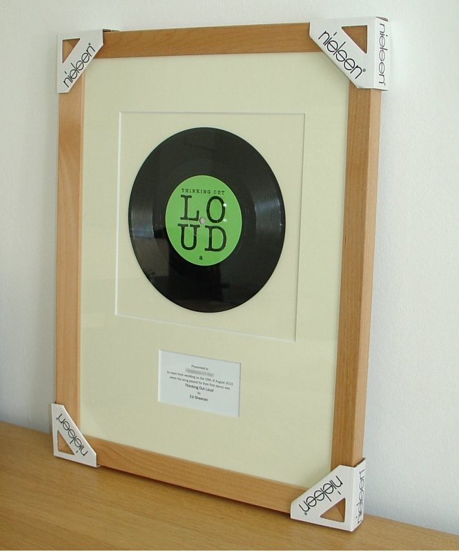Ed Sheeran Thinking Out Loud November 2014 Framed Vinyl