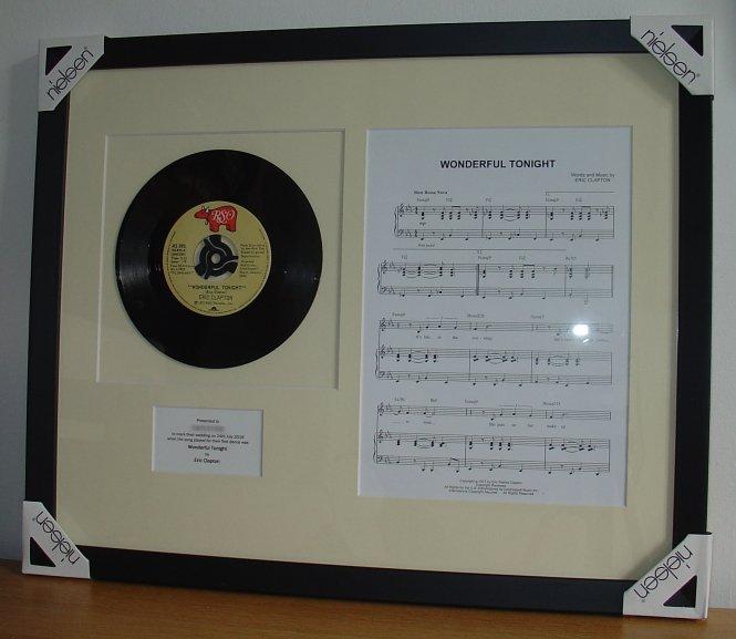 Eric Clapton Wonderful Tonight Framed Vinyl