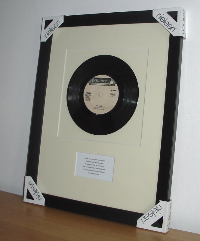 Frank Sinatra My Way Framed Vinyl Amp Sheet Music
