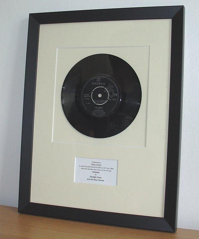 Georgie Fame Getaway July 1966 Framed Vinyl