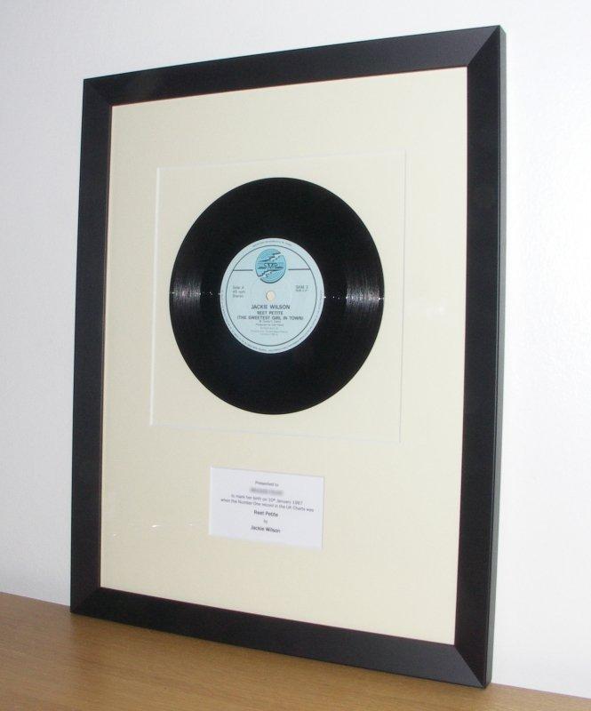 Jackie Wilson - Reet Petite - December 1986 - framed vinyl