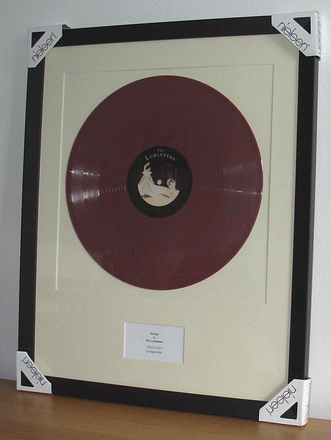 Lumineers Ho Hey Framed Vinyl