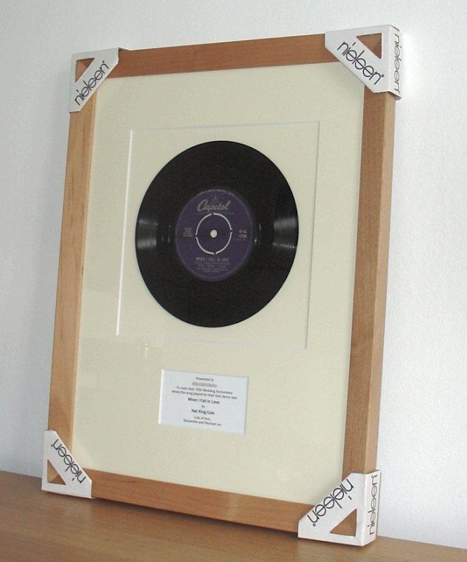 Nat King Cole When I Fall In Love Framed Vinyl