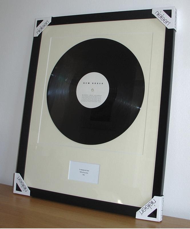 New Order Bizarre Love Triangle Framed Vinyl