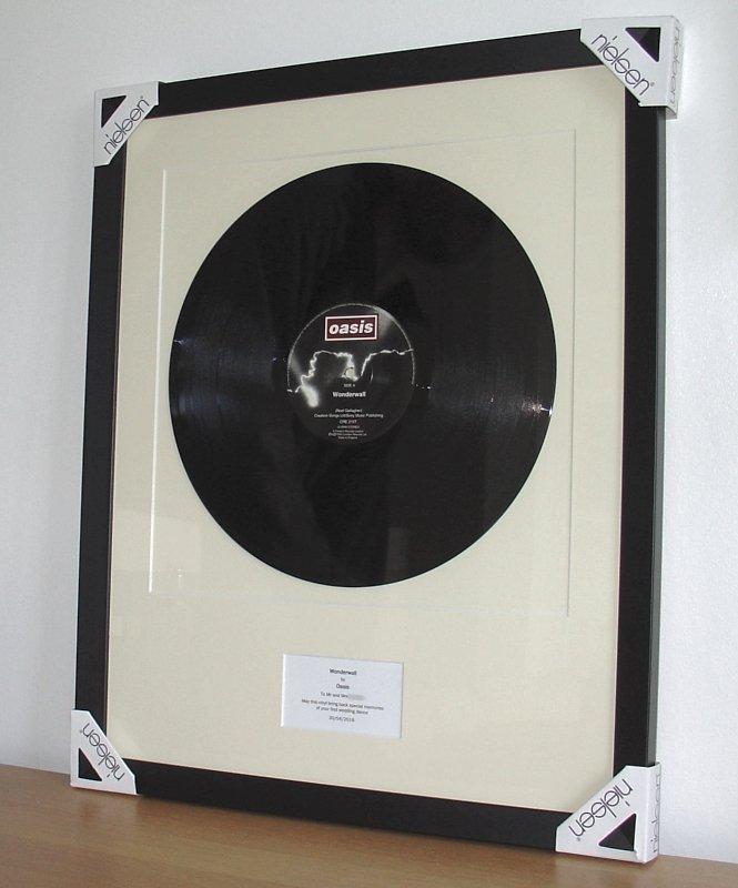 Oasis Wonderwall Framed Vinyl