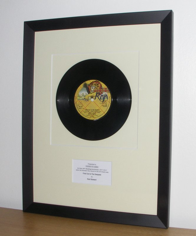 Framed Vinyl Records And Sheet Music A Perfect Gift For