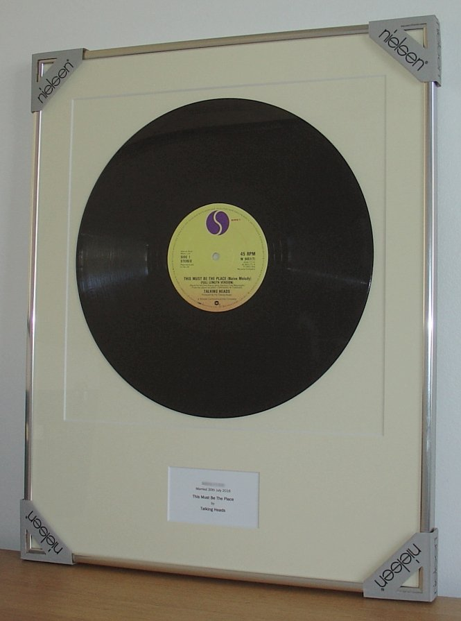 Talking Heads This Must Be The Place Framed Vinyl