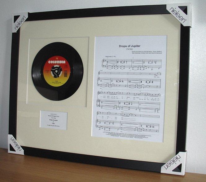 Train Drops Of Jupiter Framed Vinyl