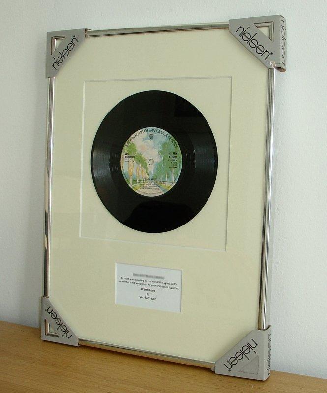Van Morrison Warm Love Framed Vinyl